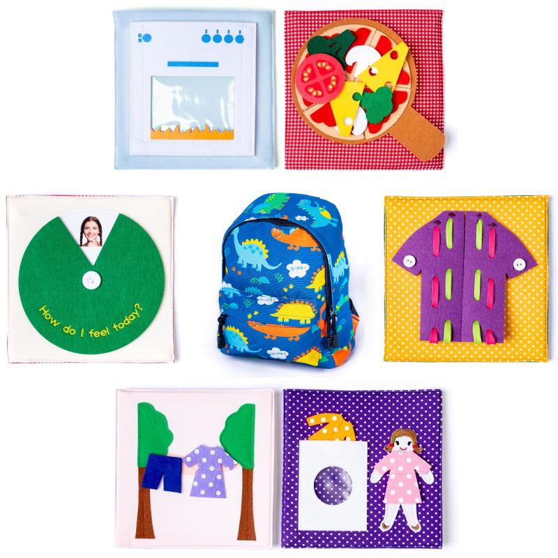 Rucsac senzorial Activități practice Montessori