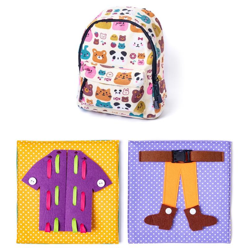 Rucsac Învățăm să ne îmbrăcăm cadouri pentru copii de 2 ani