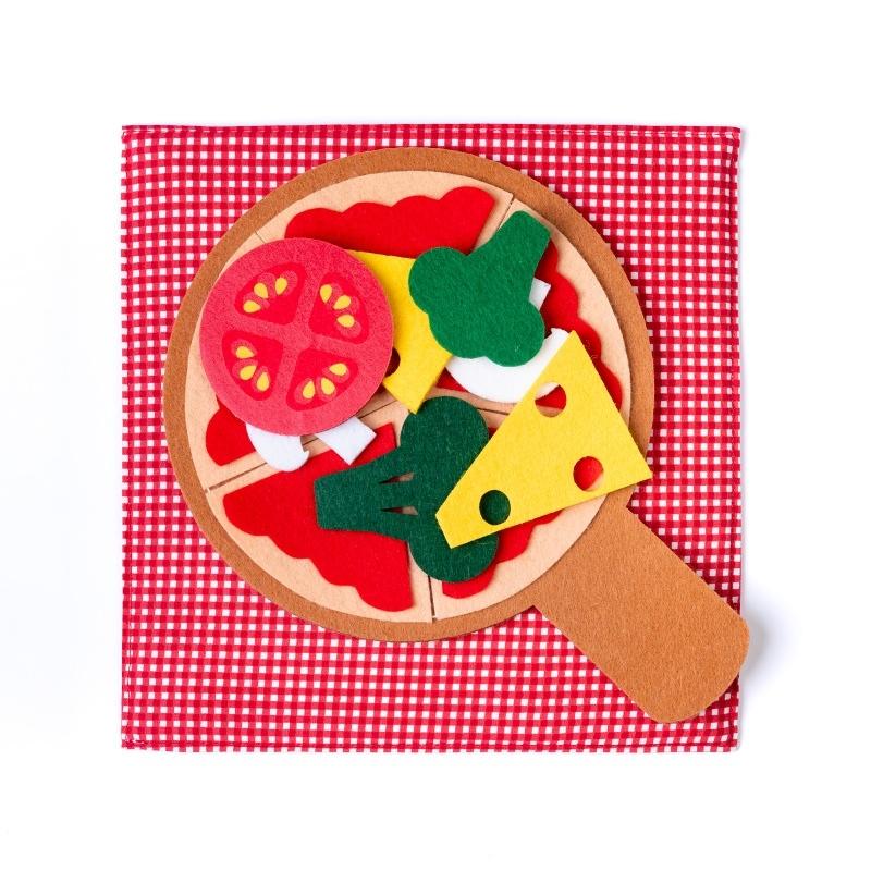 jucarii educative 1 an pizza din fetru